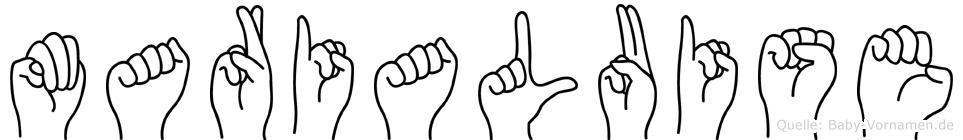Marialuise im Fingeralphabet der Deutschen Gebärdensprache