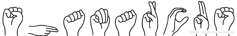 Shamarcus im Fingeralphabet der Deutschen Gebärdensprache