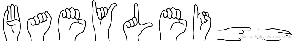 Baeyleigh in Fingersprache für Gehörlose