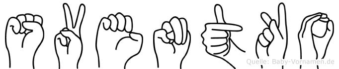 Sventko im Fingeralphabet der Deutschen Gebärdensprache