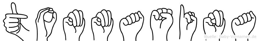 Tommasina im Fingeralphabet der Deutschen Gebärdensprache