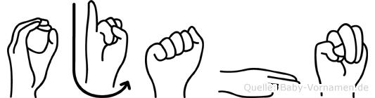 Ojahn im Fingeralphabet der Deutschen Gebärdensprache