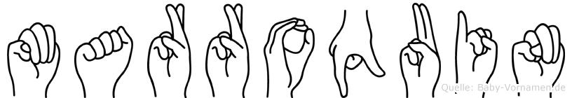 Marroquin in Fingersprache für Gehörlose