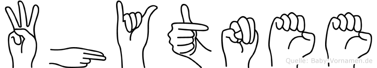 Whytnee in Fingersprache für Gehörlose