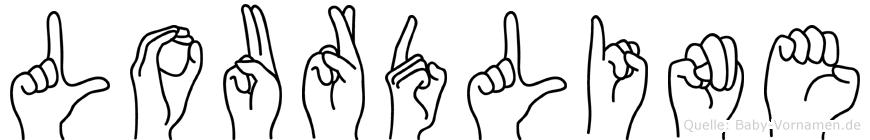 Lourdline in Fingersprache für Gehörlose