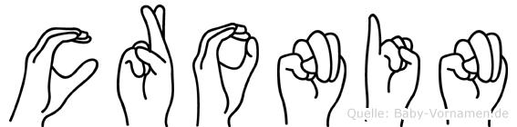 Cronin in Fingersprache für Gehörlose