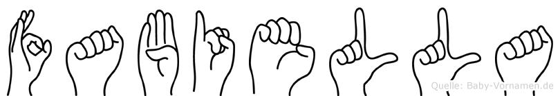 Fabiella in Fingersprache für Gehörlose