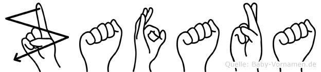 Zafara in Fingersprache für Gehörlose