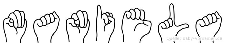 Maniela in Fingersprache für Gehörlose