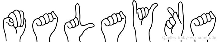 Malayka in Fingersprache für Gehörlose