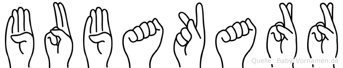 Bubakarr im Fingeralphabet der Deutschen Gebärdensprache