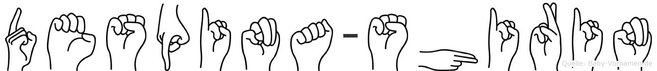 Despina-Shirin im Fingeralphabet der Deutschen Gebärdensprache