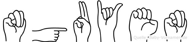 Nguyen in Fingersprache für Gehörlose