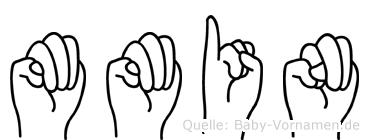 Mümin im Fingeralphabet der Deutschen Gebärdensprache