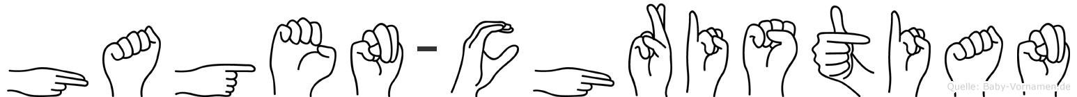 Hagen-Christian im Fingeralphabet der Deutschen Gebärdensprache