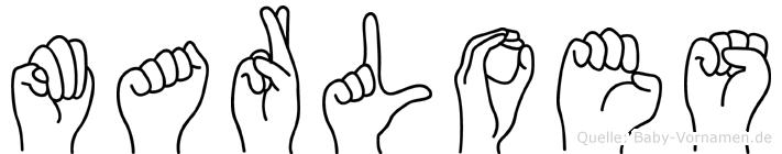 Marloes im Fingeralphabet der Deutschen Gebärdensprache