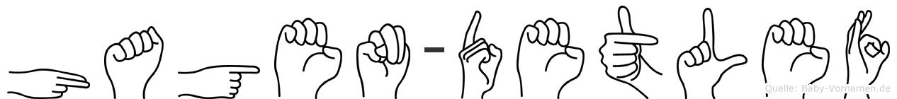 Hagen-Detlef im Fingeralphabet der Deutschen Gebärdensprache