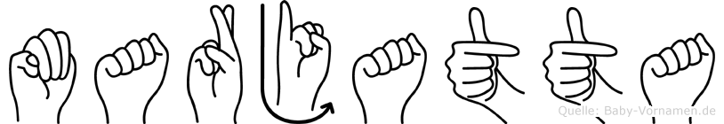 Marjatta im Fingeralphabet der Deutschen Gebärdensprache