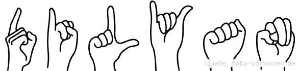 Dilyan in Fingersprache für Gehörlose