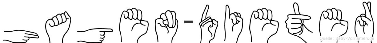 Hagen-Dieter im Fingeralphabet der Deutschen Gebärdensprache