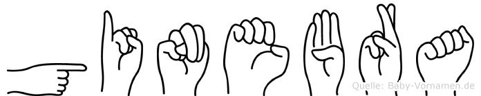 Ginebra in Fingersprache für Gehörlose