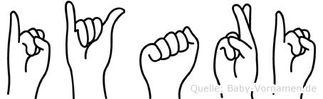 Iyari im Fingeralphabet der Deutschen Gebärdensprache