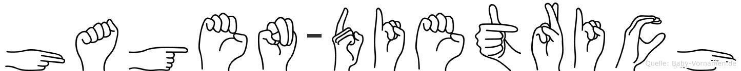 Hagen-Dietrich im Fingeralphabet der Deutschen Gebärdensprache