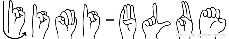 Jimi-Blue im Fingeralphabet der Deutschen Gebärdensprache