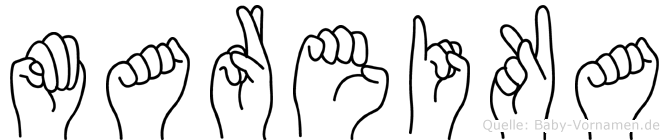 Mareika in Fingersprache für Gehörlose