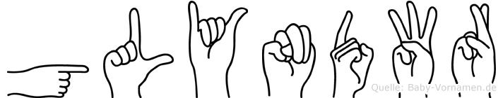Glyndwr in Fingersprache für Gehörlose