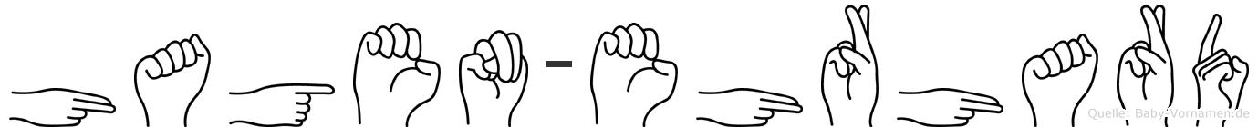 Hagen-Ehrhard im Fingeralphabet der Deutschen Gebärdensprache
