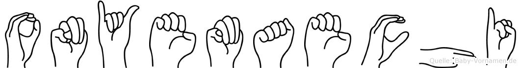 Onyemaechi in Fingersprache für Gehörlose
