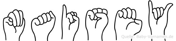 Maisey in Fingersprache für Gehörlose