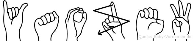 Yaozew im Fingeralphabet der Deutschen Gebärdensprache