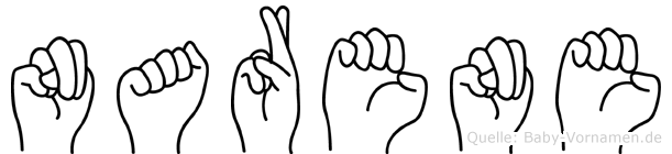 Narene in Fingersprache für Gehörlose