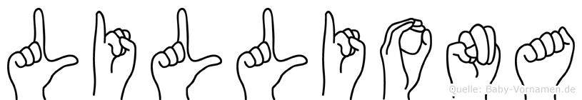 Lilliona im Fingeralphabet der Deutschen Gebärdensprache