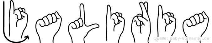 Jaliria in Fingersprache für Gehörlose