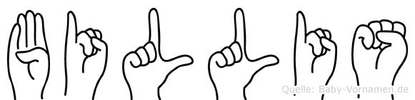 Billis in Fingersprache für Gehörlose