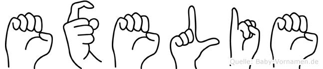 Exelie in Fingersprache für Gehörlose