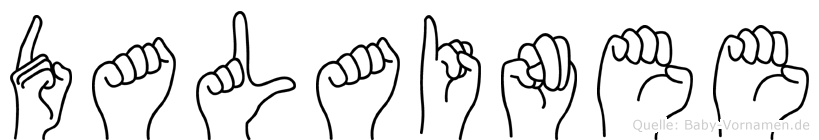 Dalainee im Fingeralphabet der Deutschen Gebärdensprache