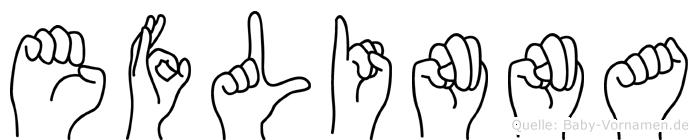 Eflinna in Fingersprache für Gehörlose