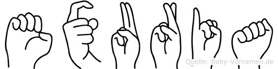 Exuria in Fingersprache für Gehörlose