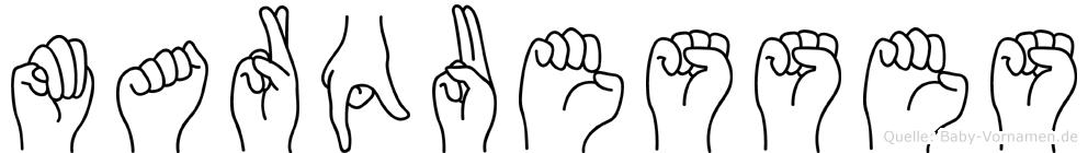 Marquesses in Fingersprache für Gehörlose