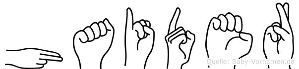 Haider in Fingersprache für Gehörlose