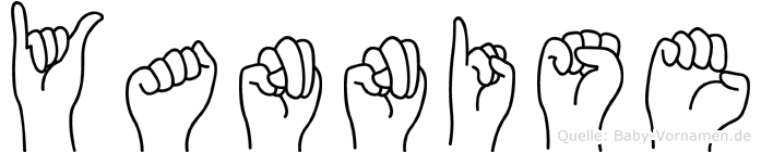 Yannise im Fingeralphabet der Deutschen Gebärdensprache