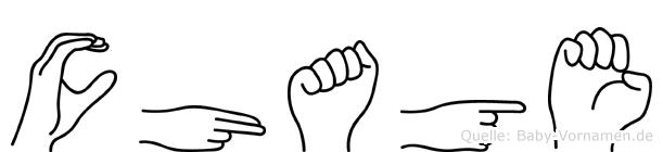 Chage im Fingeralphabet der Deutschen Gebärdensprache