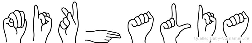 Mikhalia in Fingersprache für Gehörlose