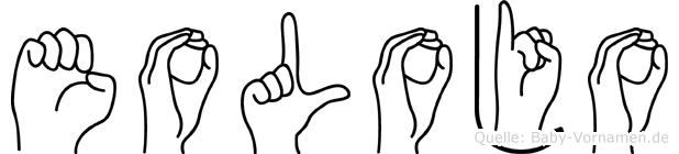 Eolojo im Fingeralphabet der Deutschen Gebärdensprache