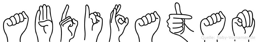 Abdifatam in Fingersprache für Gehörlose