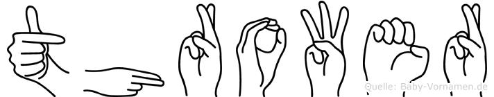 Thrower in Fingersprache für Gehörlose